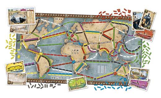 mapa mundi de aventureros al tren la vuelta al mundo