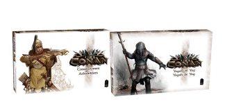Cajas de las expansiones del juego de mesa de Conan