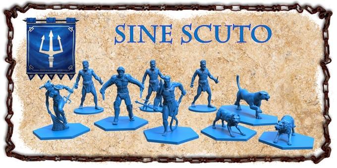 Miniaturas de la escuela Sine Scuto de Gladiatoris