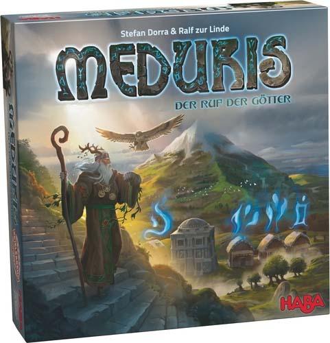 Portada de Meduris, título de la linea juegos de mesa familiares de haba