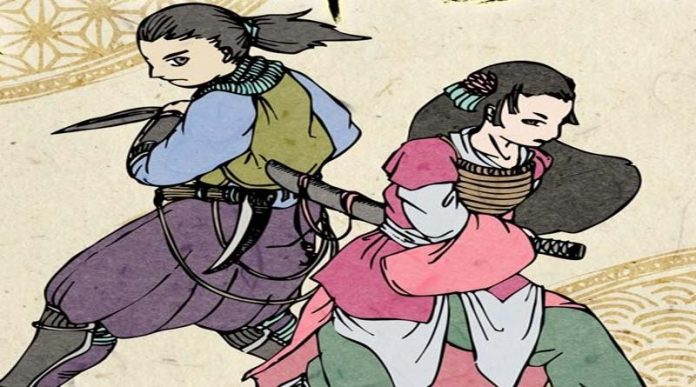Ilustración original de Ninja Taisen