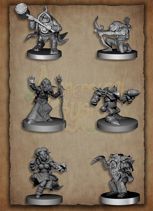 Miniaturas de Alchemical Crystal Quest