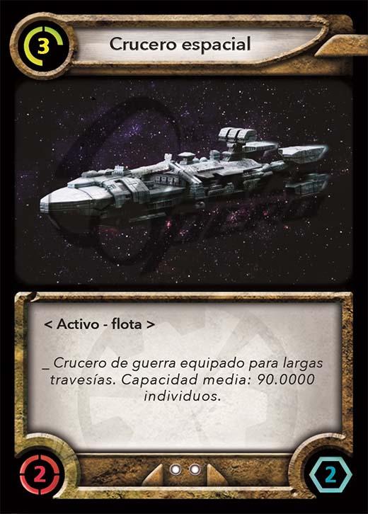 carta del prototipo del juego de cartas space opera