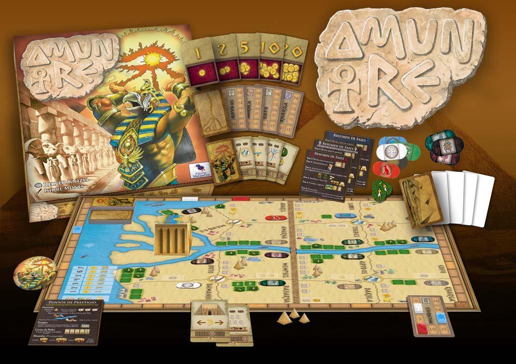 Componentes de juego AMUN RE de MasQueOca
