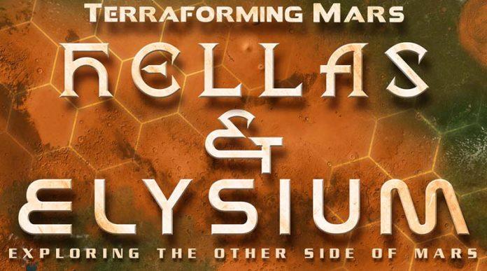 Logotipo de la expansión de terraforming mars Hellas y Elysium