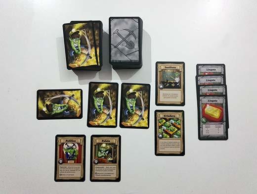 Zona del jugador de Goblins en la mina