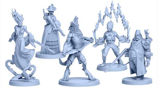 Miniaturas de los caballeros de Rise of Moloch
