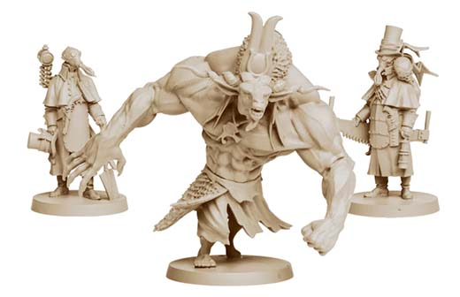 miniaturas de los enemigos de Rise of Moloch