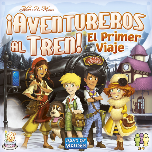 Portada de la edición española de Ticket to ride first journey europe