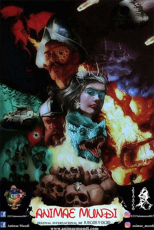 Cartel del festival internacional de juegos Animae Mundi