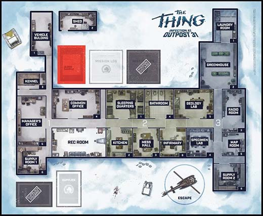base de de The Thing Infection outpost 31