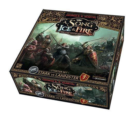 Diseño d ela caja de canción de hielo y fuego: el juego de miniaturas
