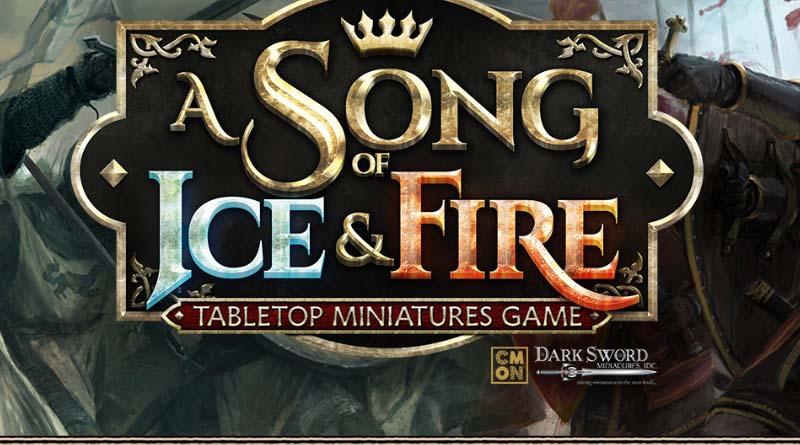 Logotipo de canción de hielo y fuego: el juego de miniaturas