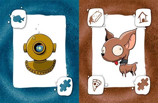 Cartas de animales de Mascotas