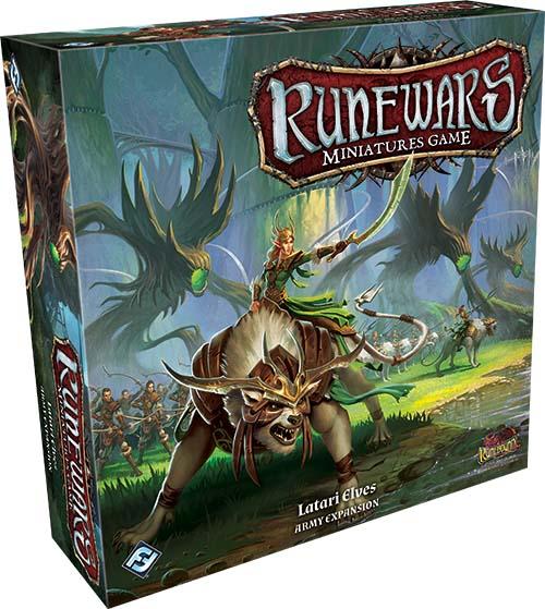 Caja de la expansión del ejercito de los elfos Latari de Runewars Miniatures