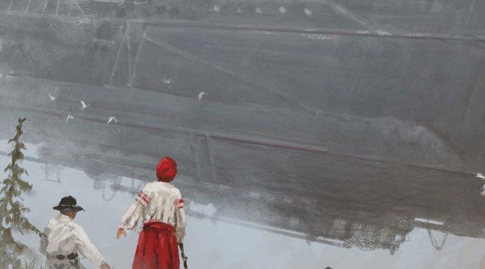 Arte de la portada de la expansión de Scythe The Wind Gambit