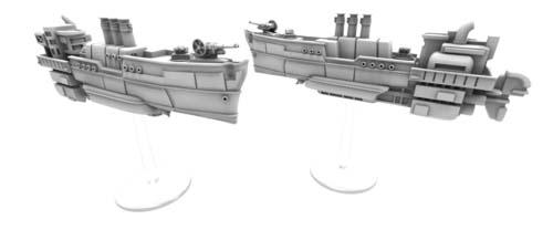Miniaturas de las aeronaves de la expansión de Scythe The wind Gambit