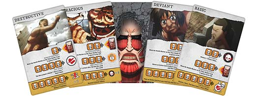 cartas de titán de de Attack on titan last stand