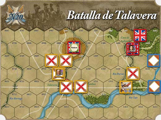 mapa de la batalla de talavera de España 20