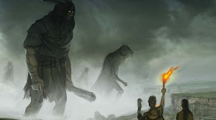 Boceto de la ilustración de la portada de The Arrival