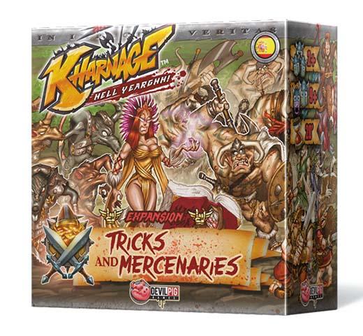 Portada de trucos y mercenarios, expansión de Kharnage
