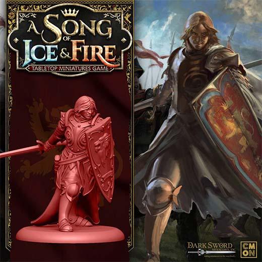 Render de la miniatura de Jaime Lannister para Canción de Hielo y Fuego el juego de miniaturas