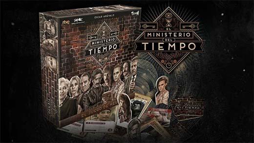 Componenetes del juego de mesa del ministerio del tiempo