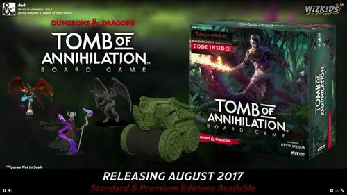 Imagen promocional de Dungeons & Dragons Tomb of Annihilation Board Game