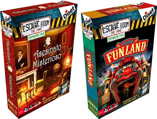 Portadas de las expansiones de escape room