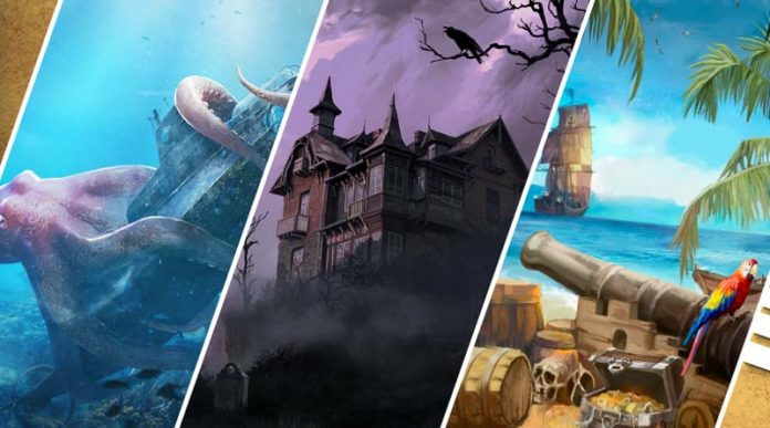Imagenes de los tres nuevos escenarios de Scape Room Unlock
