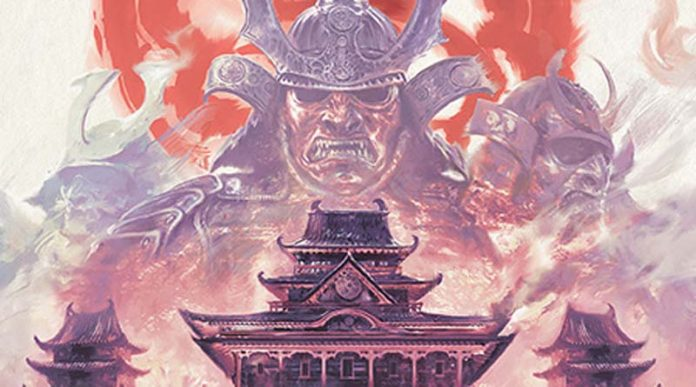 Detalle de la portada de battle for rokugan