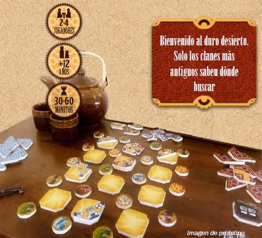 imagen del prototipo del juego de mesa Bedouin
