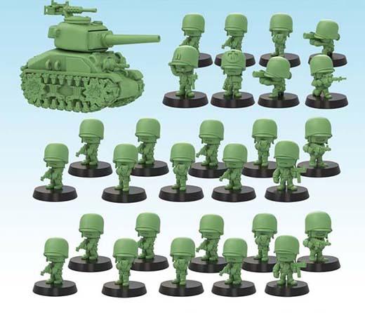 Ejército americabno de la nueva línea de miniaturas GUTS de Soda Pop