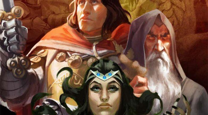 Detalle del diseño de la portada de Hexcalibur