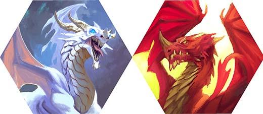 El dragón Rojo y el dragón Blanco de Logar y Cumbria