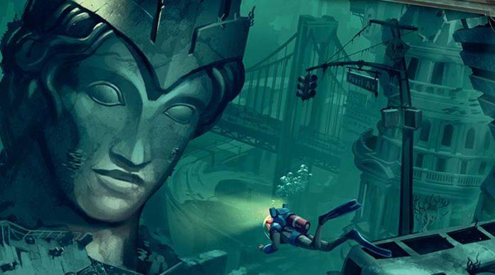 detalle del arte de la portada del juego de mesa Otys