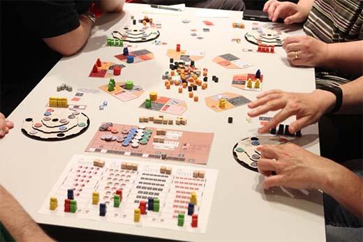 Prototipo del juego de mesa Noria