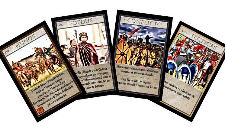Arte de las cartas del juego La caída de hispania