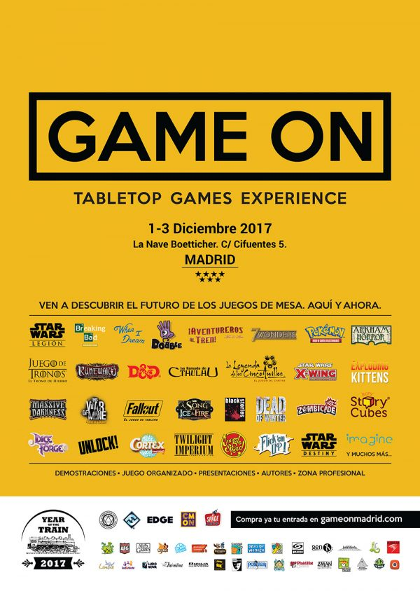Cartel oficial GAME ON