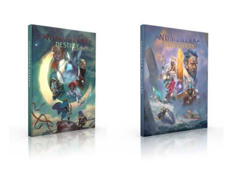 Numenera 2. Portadas de Discovery and Destiny