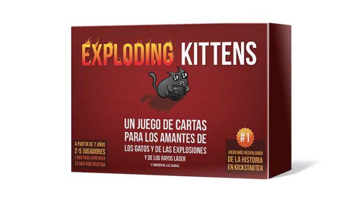 Caja de la edición en español de exploding Kittens