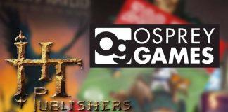 Logotipos de HT Publishers y Osprey Games