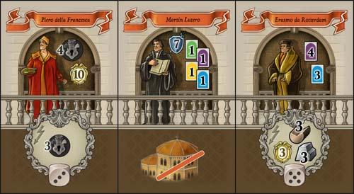 Nuevas cartas de líderes de la expansión de lorenzo il magnifico casas del renacimiento