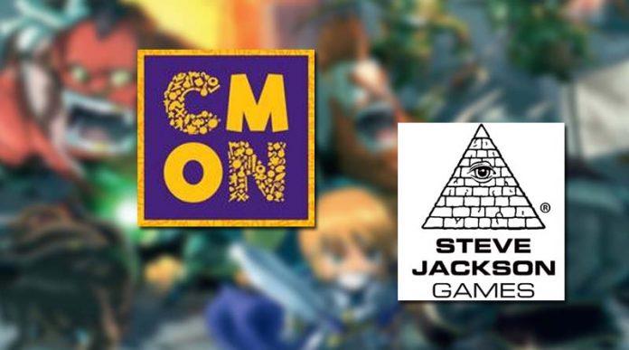 Logotipos de Steve Jackson Games y CMON