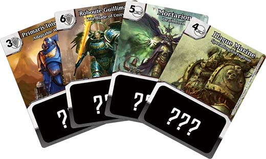 cartas de ejemplo de warhammer 40K Dice Masters Battle for Ultramar