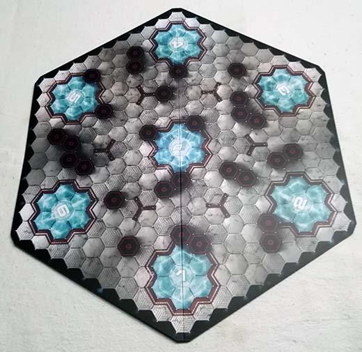 El Hexadome, el tablero de juego de Aristeia