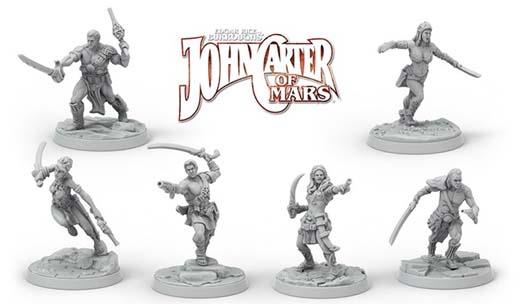 Miniaturas del juego de rol de John Carter of Mars