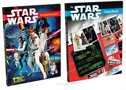 Los dos libros de la edición 30 aniversario de Star Wars el juego de rol