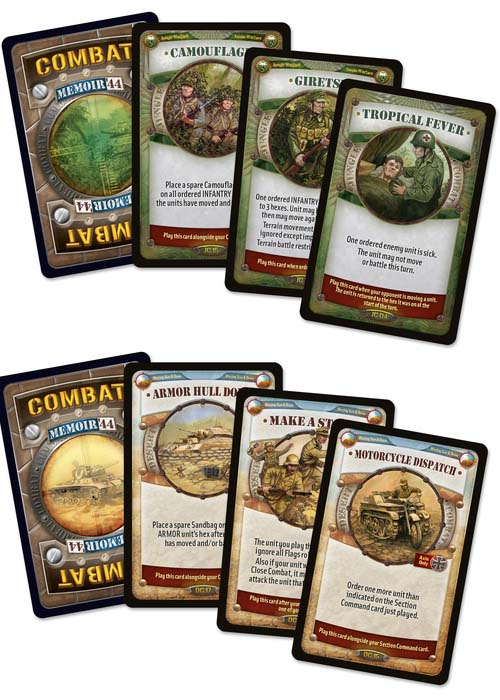 Cartas de Memoir 44 Through Jungle and Desert battle map