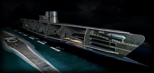 maqueta submarino UBOOT – Lobos de la Kriegsmarine
